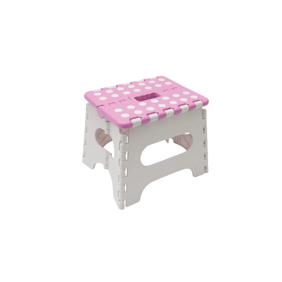 Banco Plastico Dobravell Multiuso Infantil 27 cm Rosa - Buba
