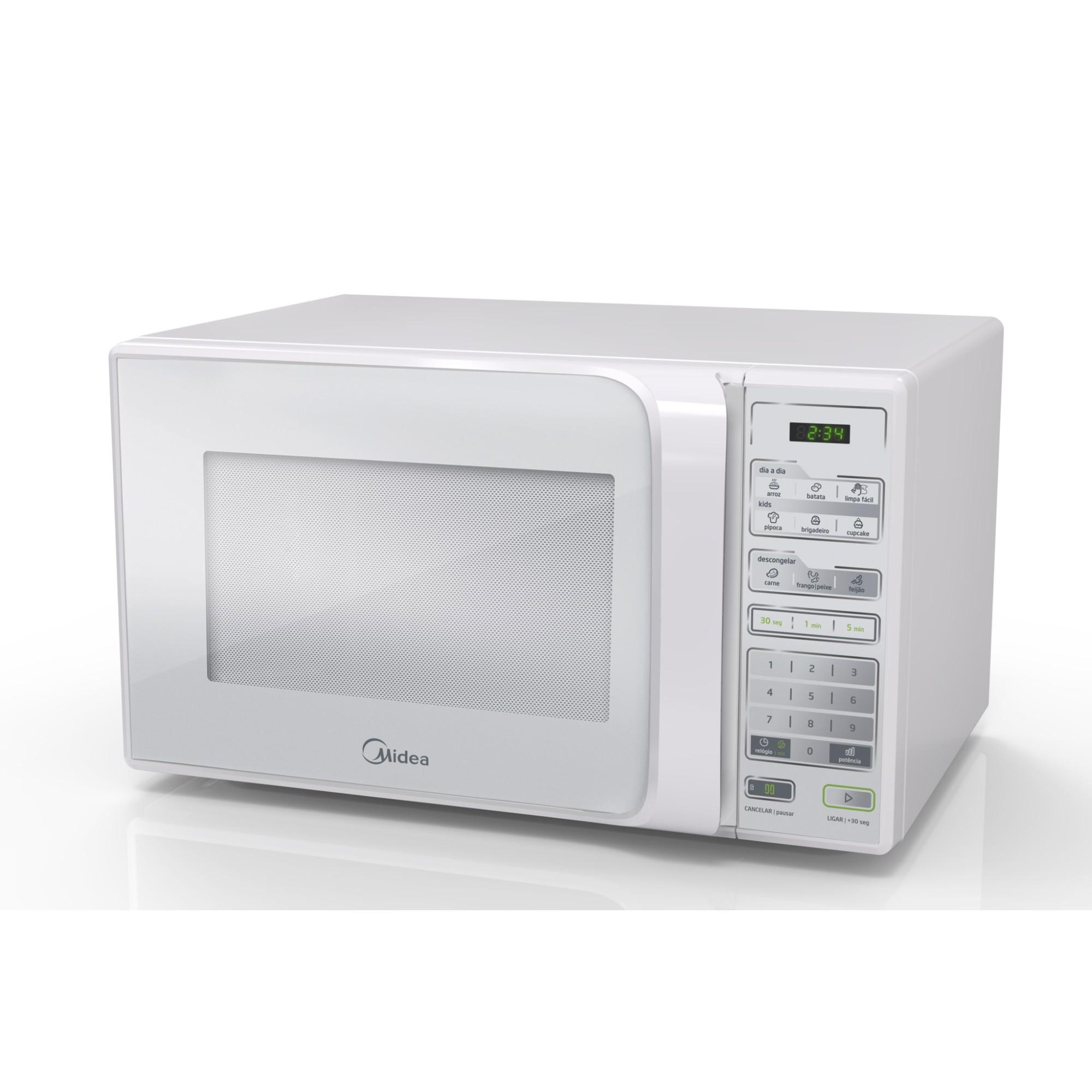 Micro-ondas Midea MTFB22 750w 127V Branco - 20L Painel Touch Timer