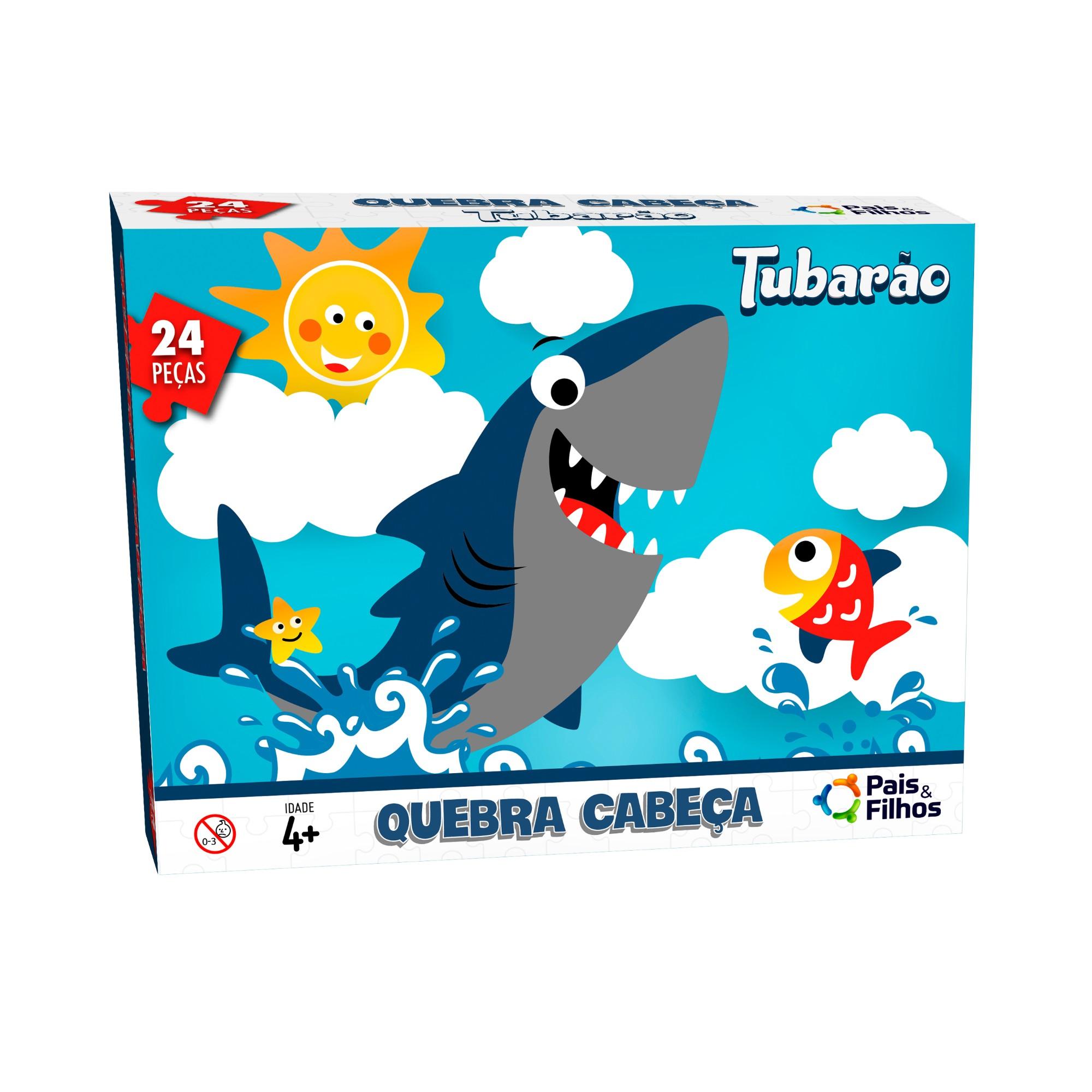 Jogo Quebra-Cabeca Tubarao 24 pecas - Pais e Filhos