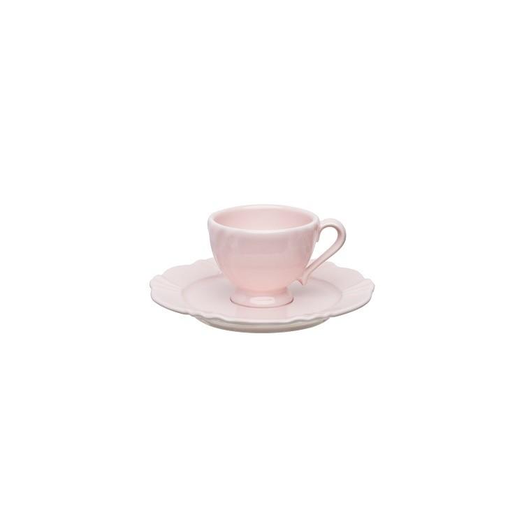Xicara de Cafe Soleil Blush Porcelana 75ml com Pires - Oxford
