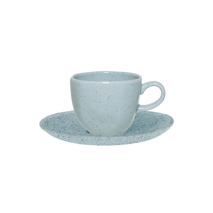 Xicara de Cha Ryo Blue Bay Porcelana 220ml com Pires - Oxford