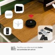Controle smart sobre um rack mostrando os dispositivos que ele pode controlar