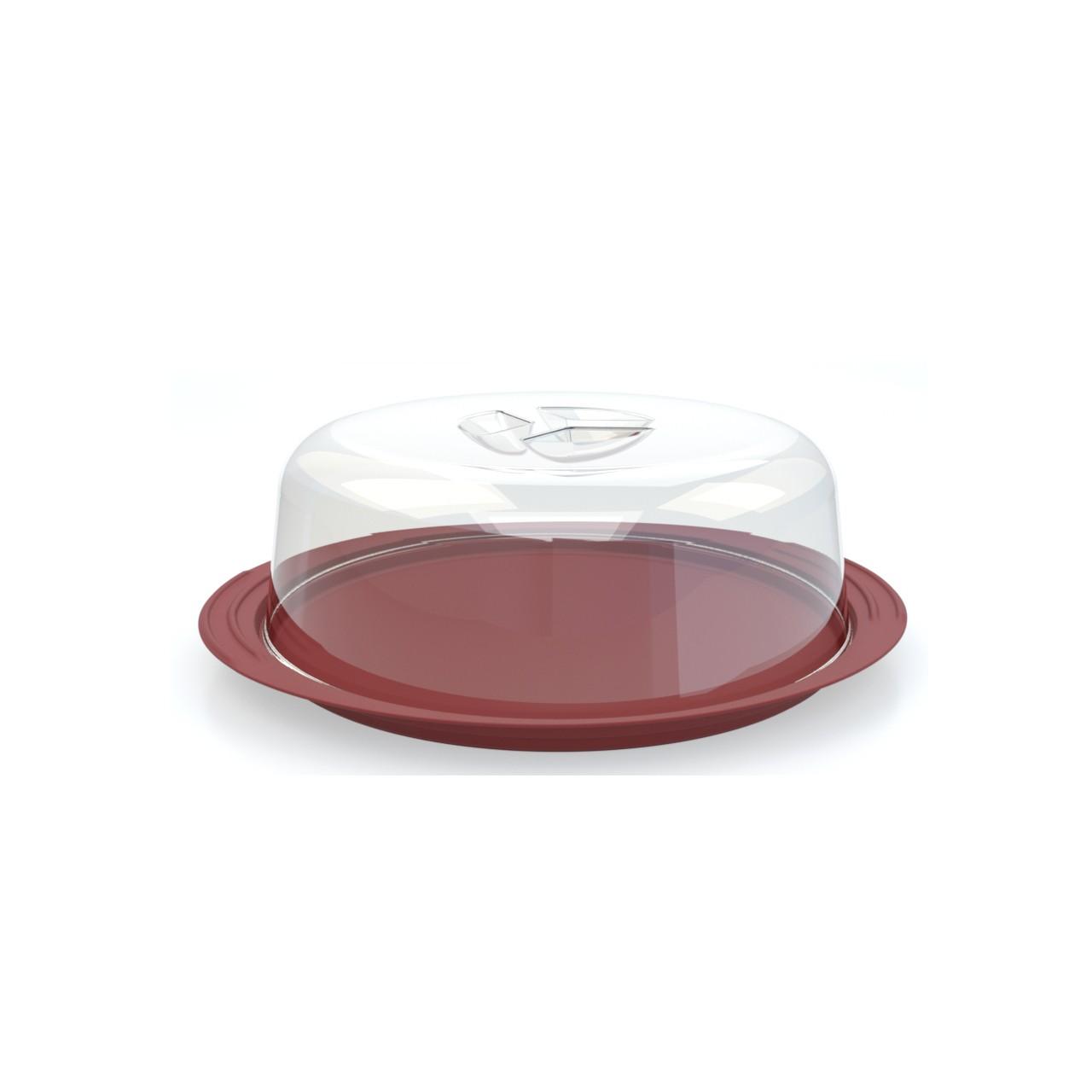 Boleira de Plastico 31cm Vermelho - Utility
