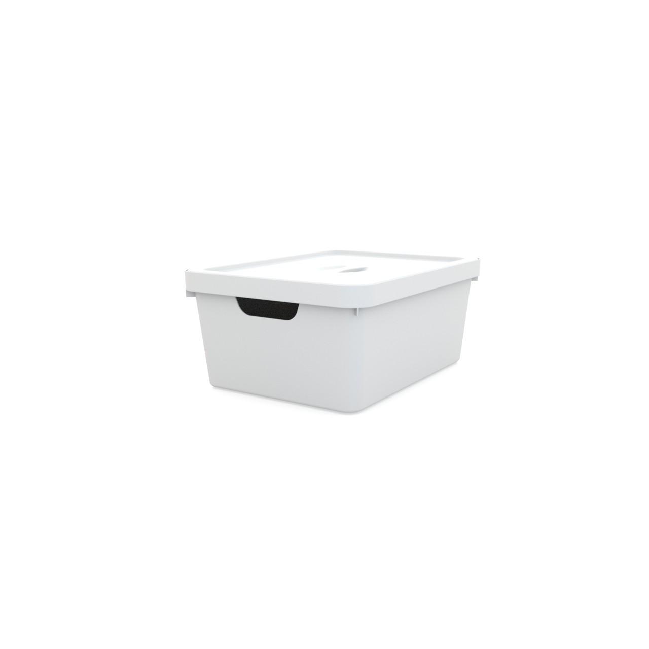 Caixa Organizadora com Tampa Retangular 10L Utility Branco - 11061-2