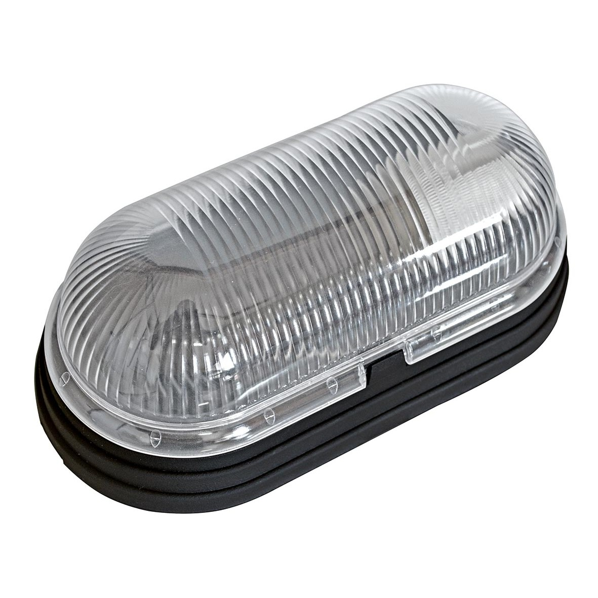 Luminaria Oval Plastica Tartaruga Preta Bivolt - Dital