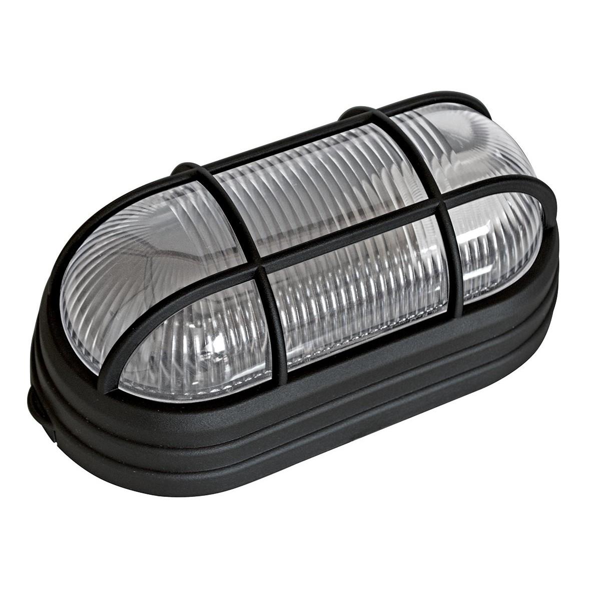 Luminaria Plastica Tartaruga com Grade Bivolt Preto - Dital