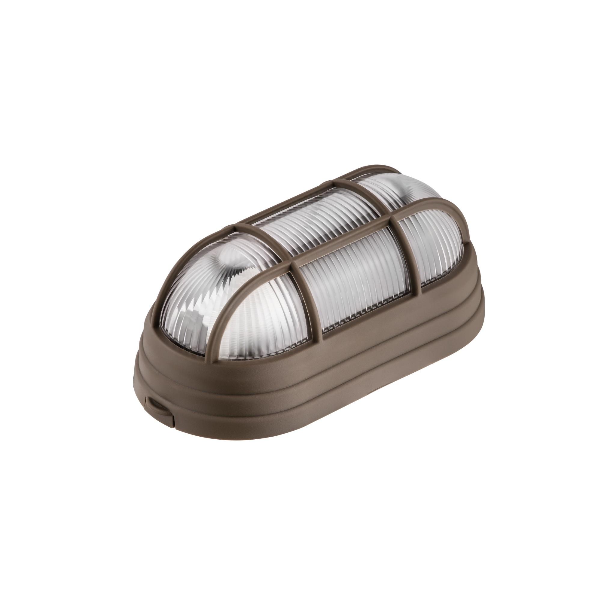 Luminaria Plastica Tartaruga com Grade Bivolt Marrom - Dital