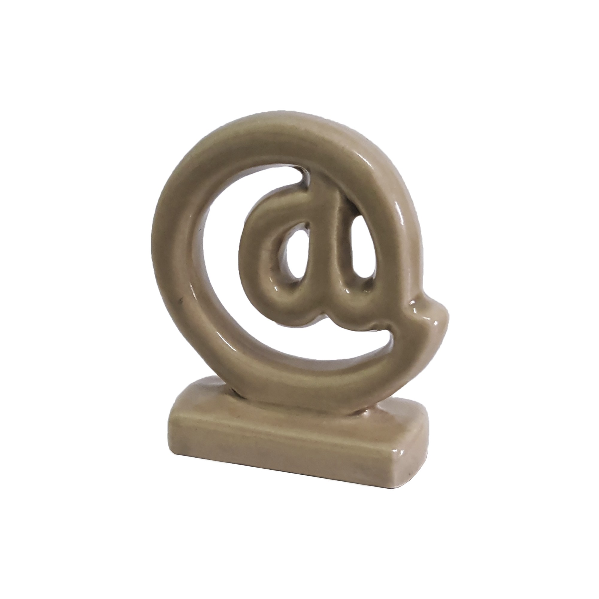 Enfeite Decorativo Arroba de Ceramica Fendi Brilho - Buzzio s