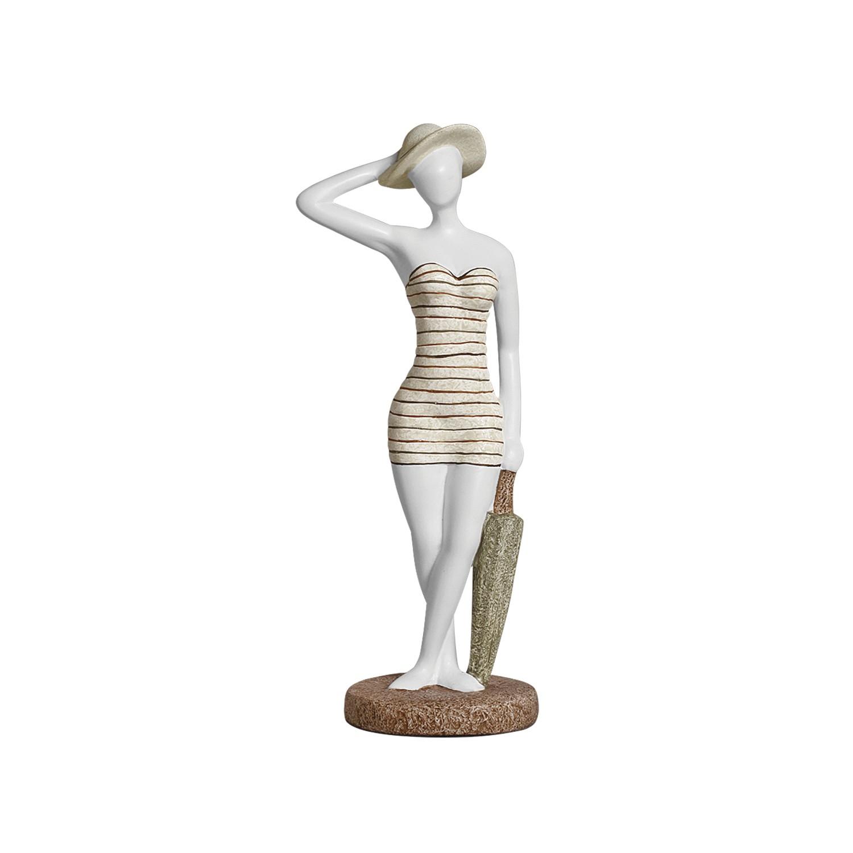 Enfeite Decorativo Escultura Banhista de Ceramica - Buzzio s