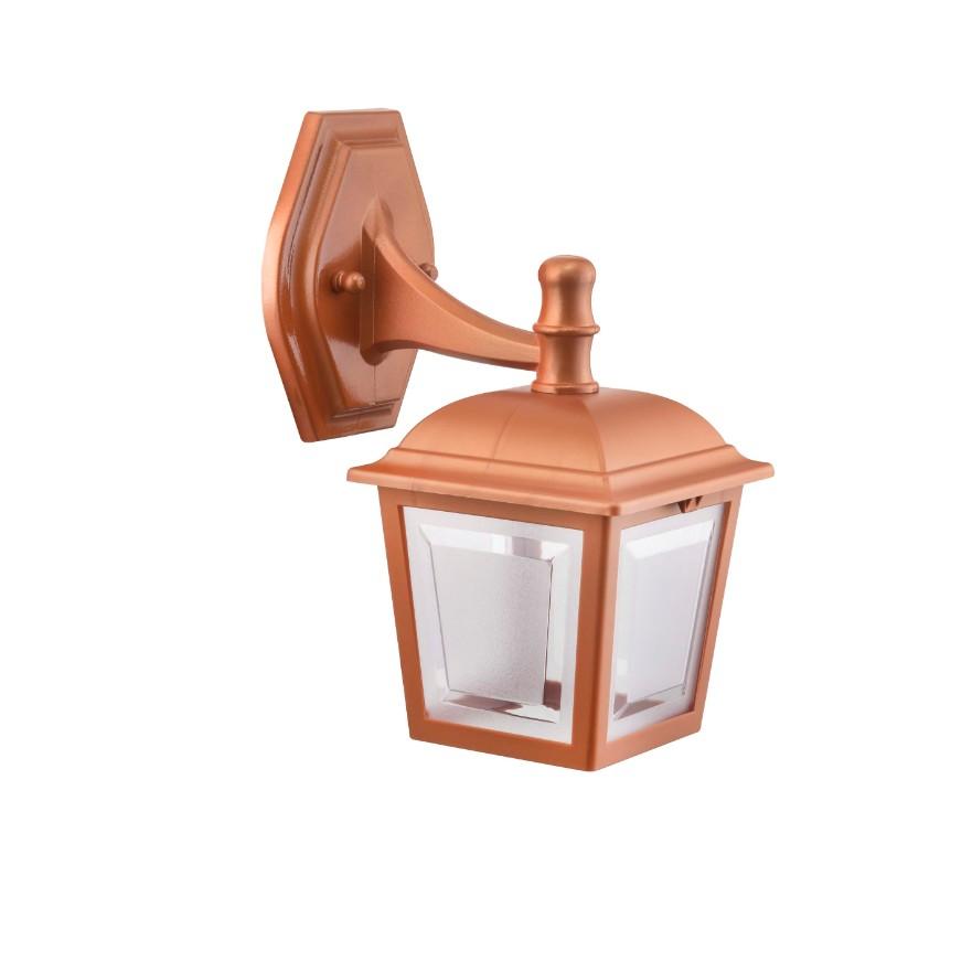 Arandela Plastica 4 Faces 1 Lampada Cobre - Dital