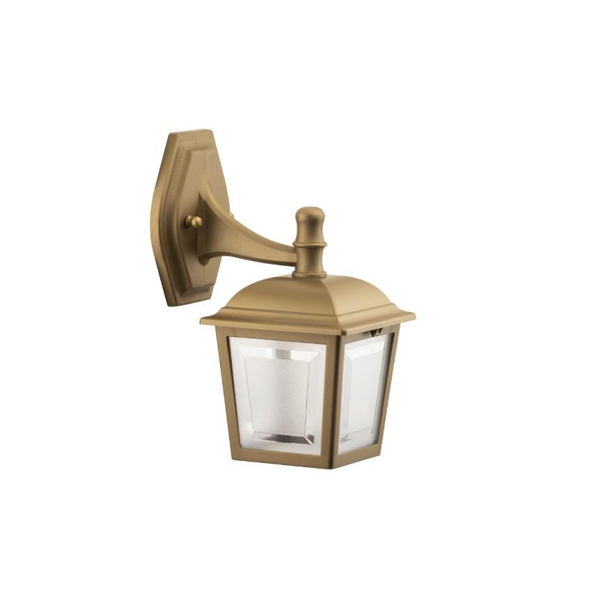 Arandela Plastica 4 Faces 1 Lampada Ouro Velho - Dital