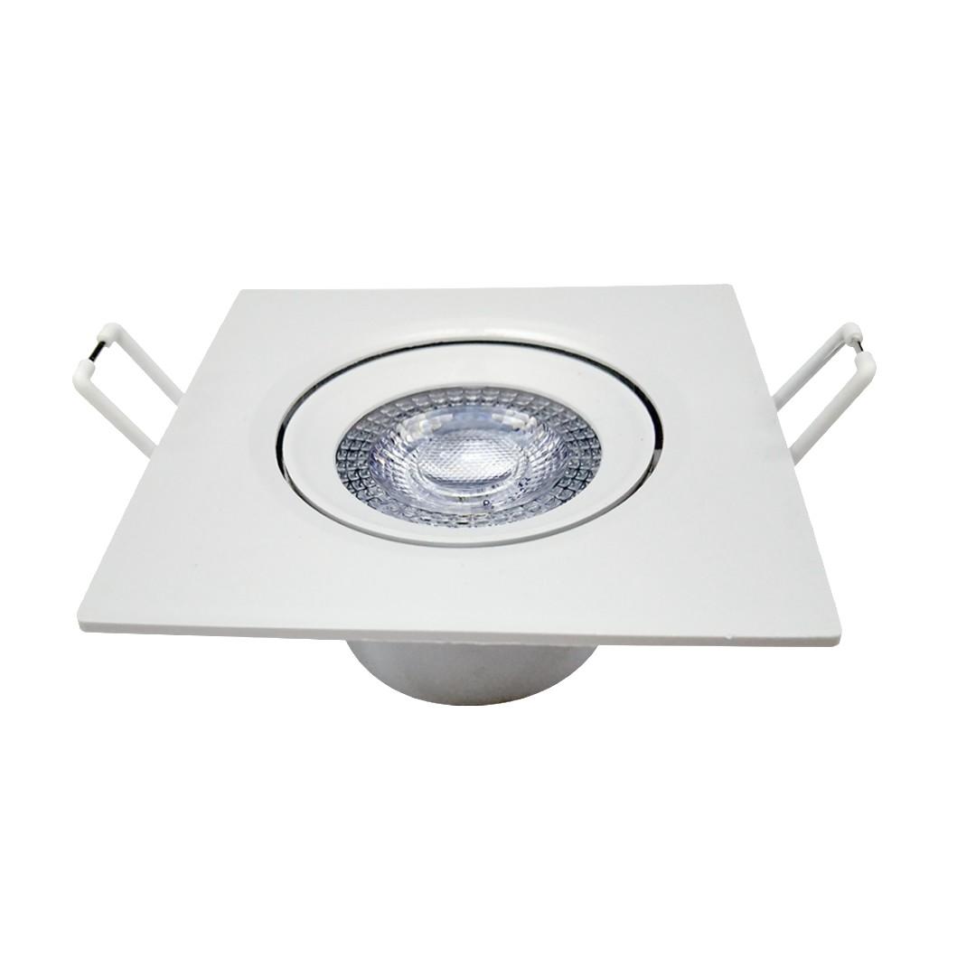 Sport LED de Embutir Quadrada 5W Branco - Avant