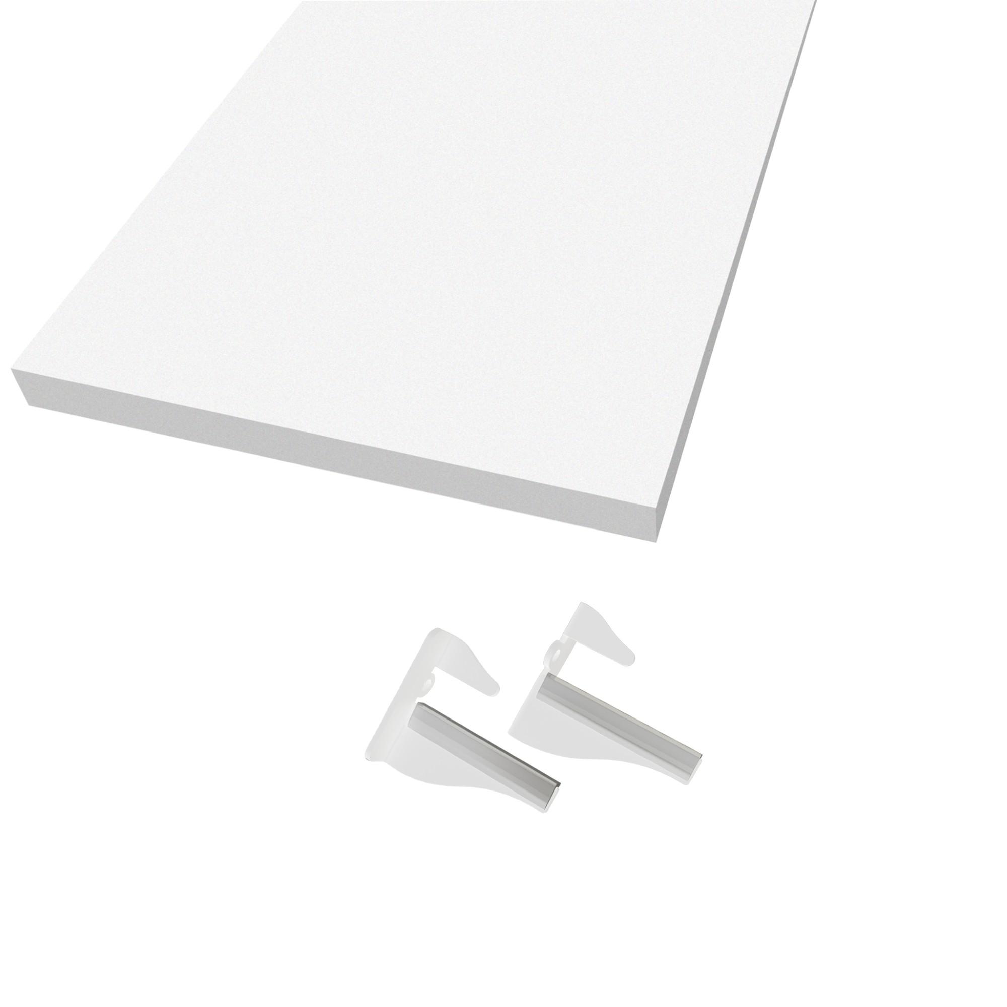Prateleira Torino MDF com Suporte 40x20 cm Dicarlo - Branco