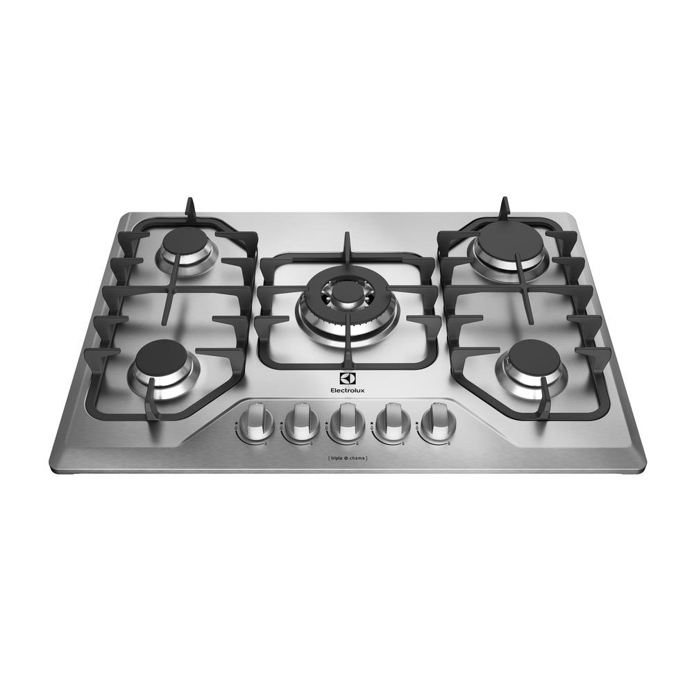 Cooktop a Gas 5 Bocas Electrolux GT75X com Mesa de Inox - Bivolt