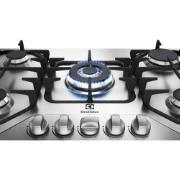 Cooktop a Gás 5 Bocas Electrolux GT75X com Mesa de Inox - Bivolt