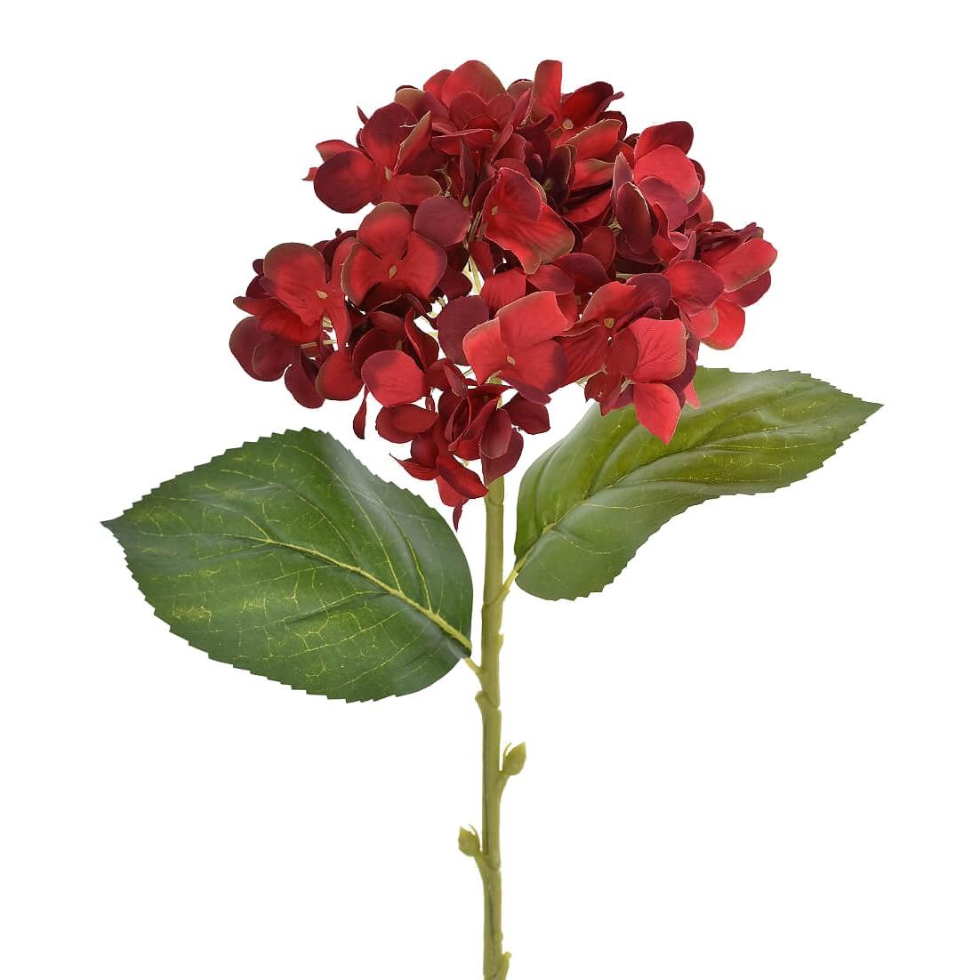 Haste Hortensia Micropeach 60 cm Vermelho
