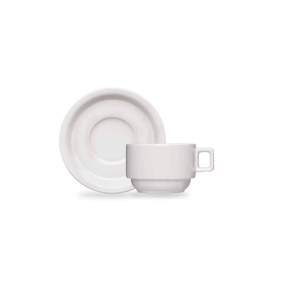 Xicara de Cafe BarHotel de Porcelana 100ml com Pires - Germer