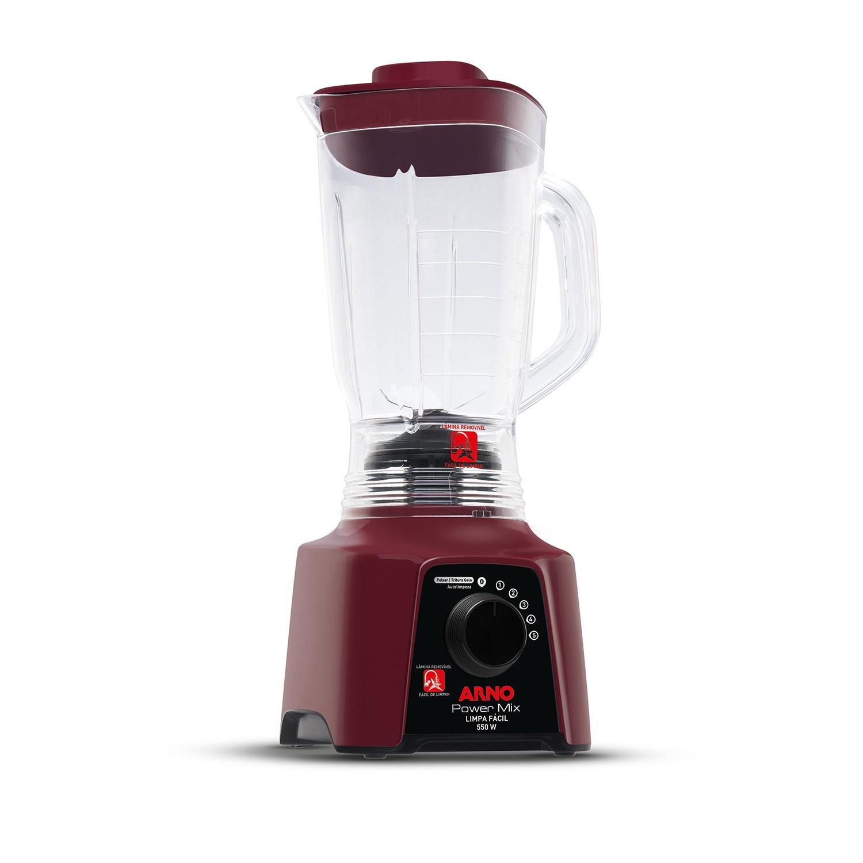 Liquidificador Arno Power Mix Limpa Facil 5 Velocidades 220V Vermelho - LN2867B2