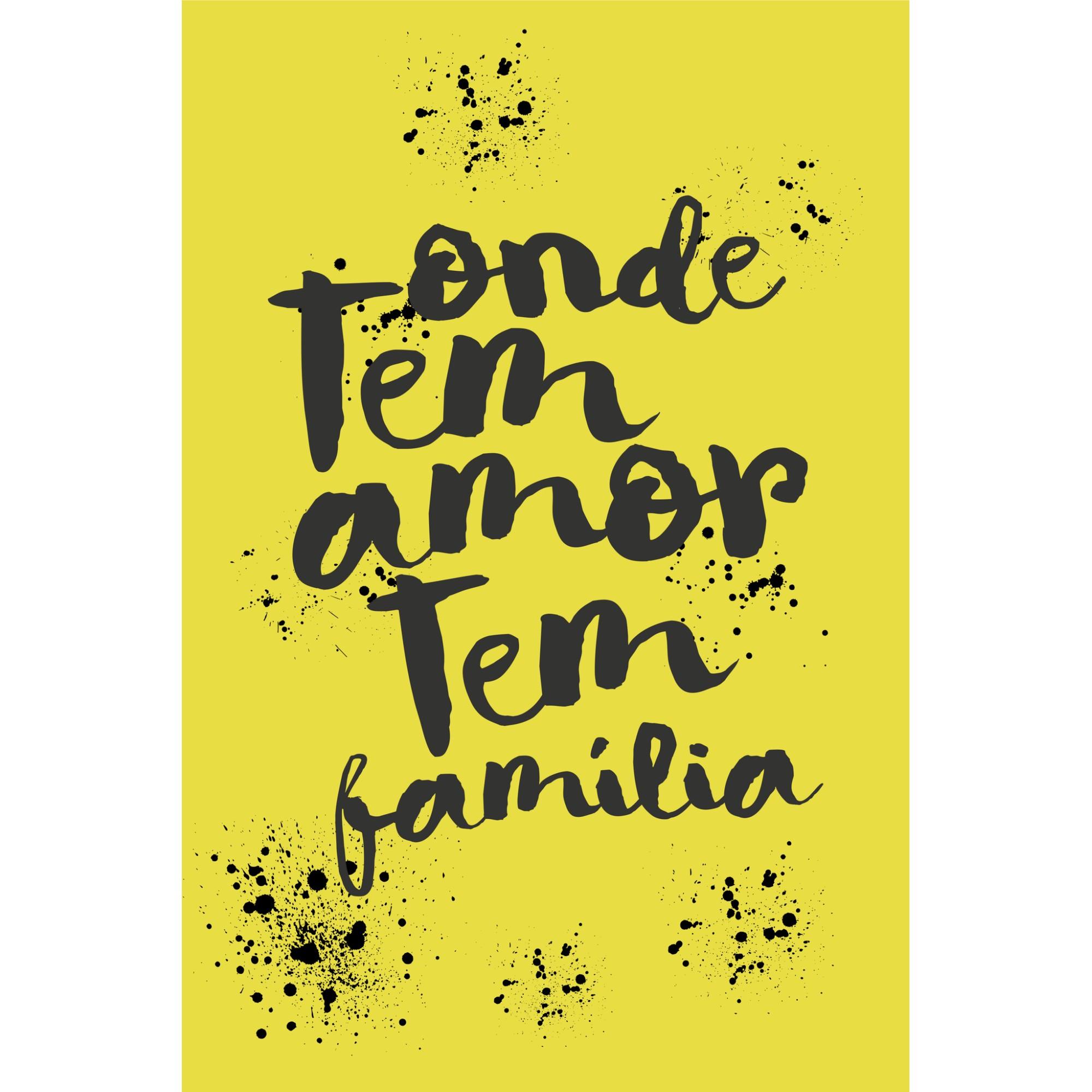Placa Decorativa Onde Tem Amor tem Familia 20 x 30 cm - Kapos