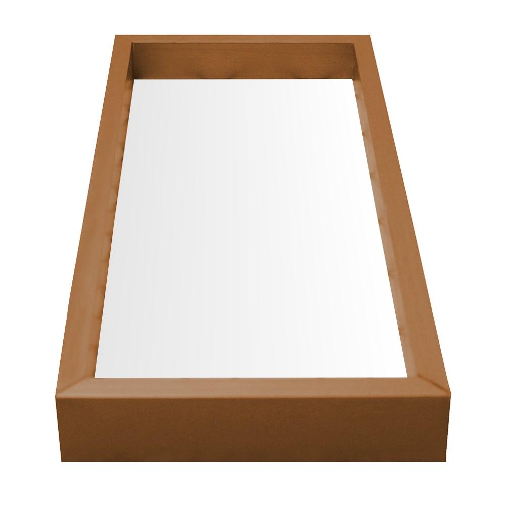 Bandeja para Lavabo Dourada Espelhada Retangular MDF Kapos 15x30cm