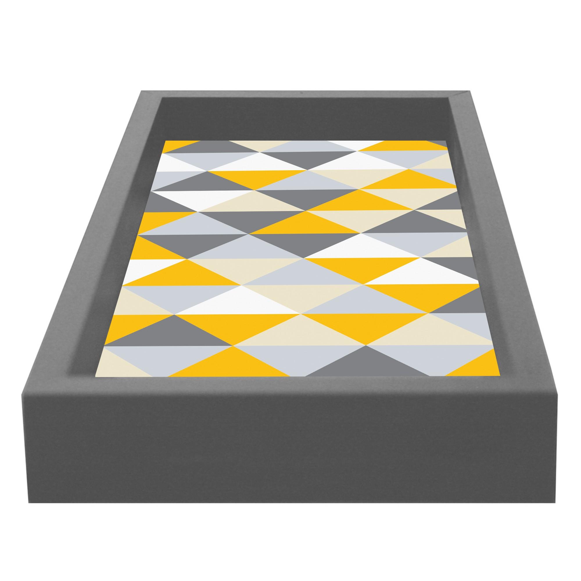 Bandeja para Lavabo Fendi Retangular MDF com Vidro Geometrico Kapos 15x30cm