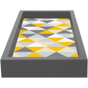 Bandeja para Lavabo Fendi Retangular MDF com Vidro Geométrico Kapos 15x30cm