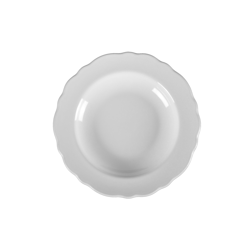 Prato Fundo em Ceramica 22cm Branco - Mypa