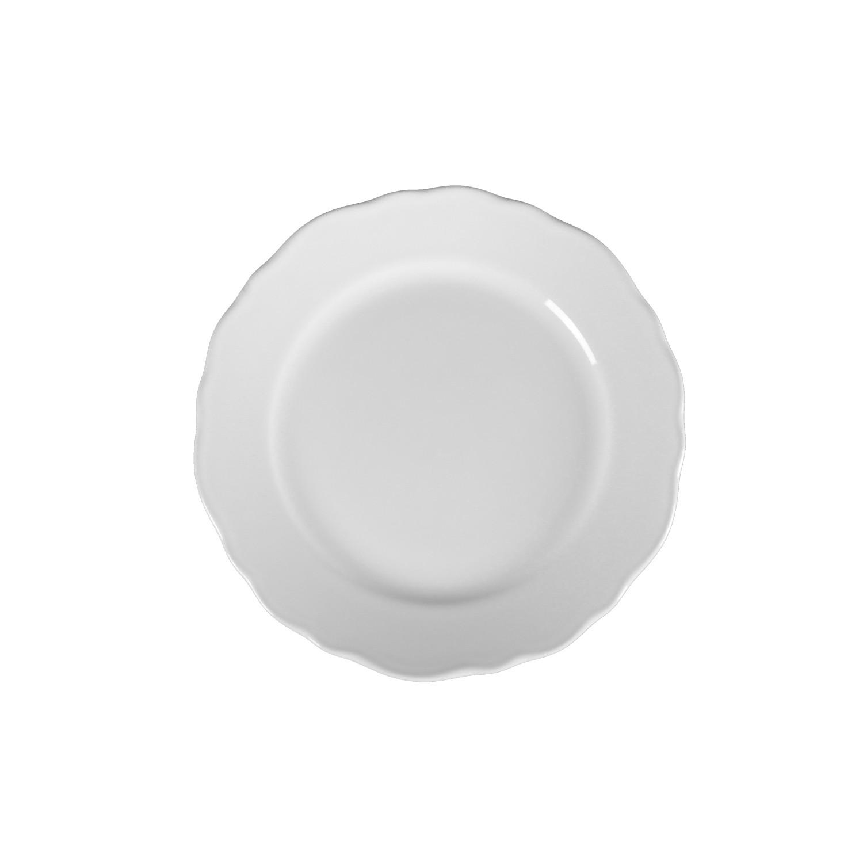 Prato de Sobremesa em Ceramica 19cm Branco - Mypa