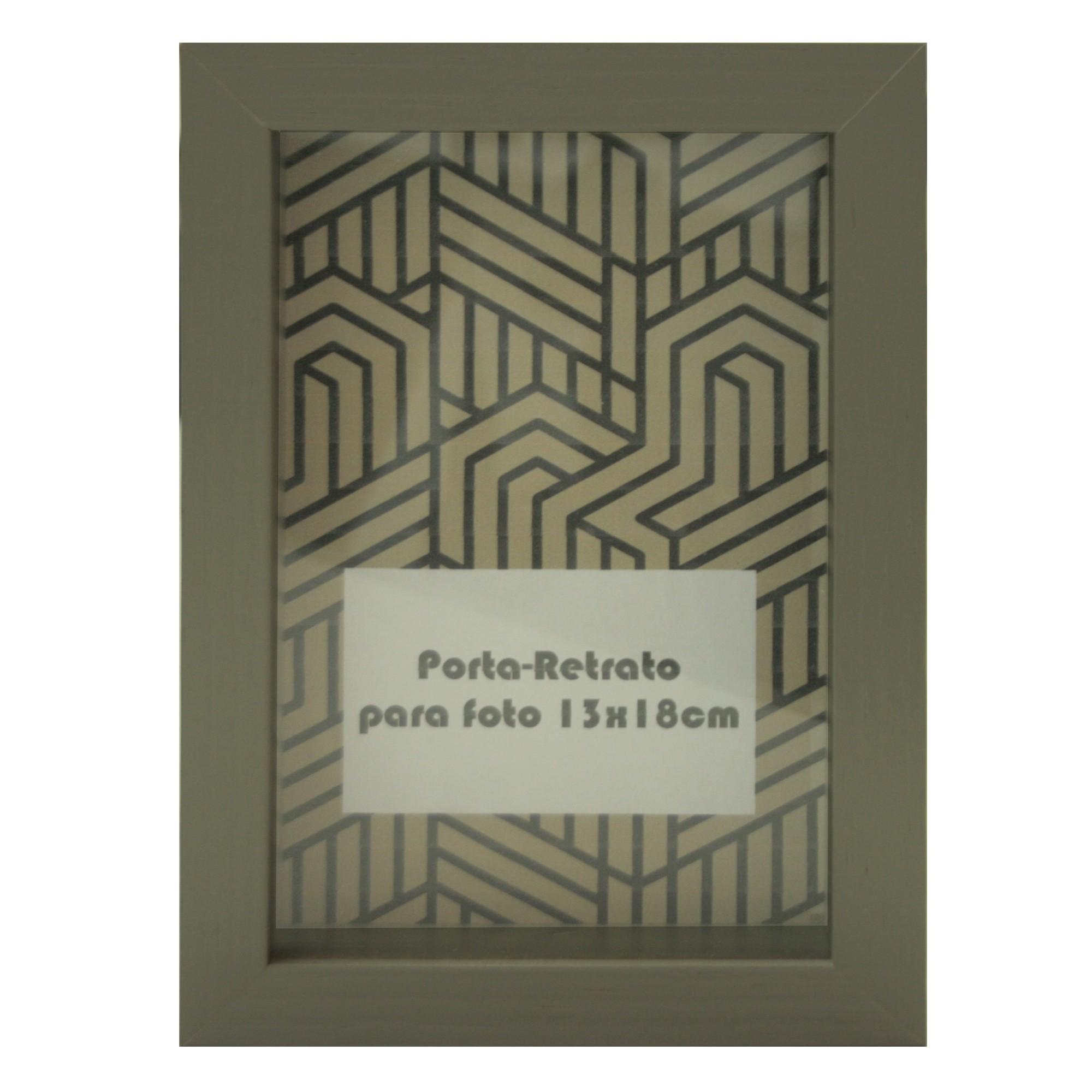 Porta Retrato Contemporaneo Unifoto Madeira 13x18 cm Chumbo - Kapos