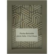 Porta Retrato Contemporâneo Unifoto Madeira 13x18 cm Chumbo - Kapos