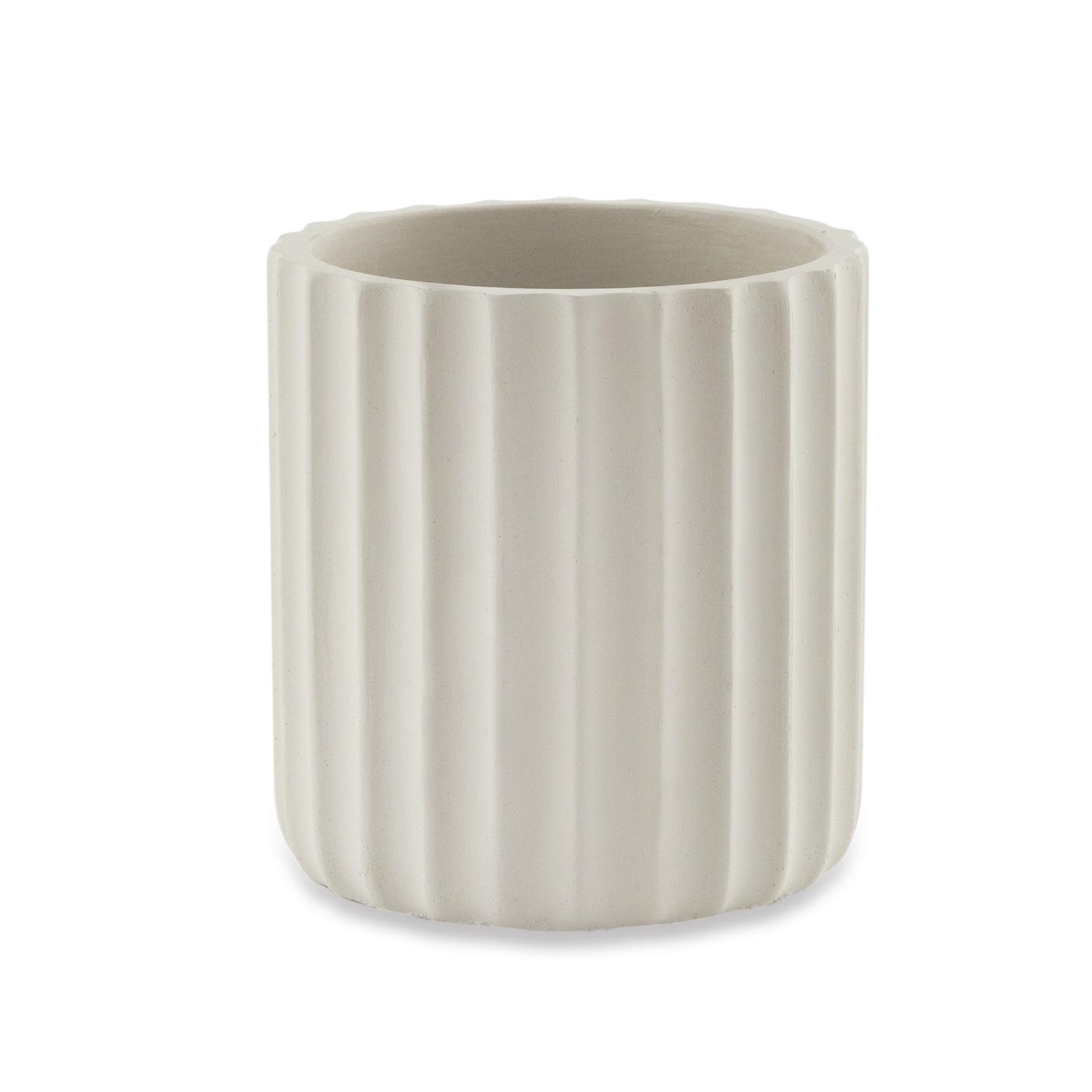 Cachepot em Cimento Off White 10x1050 cm - Mart