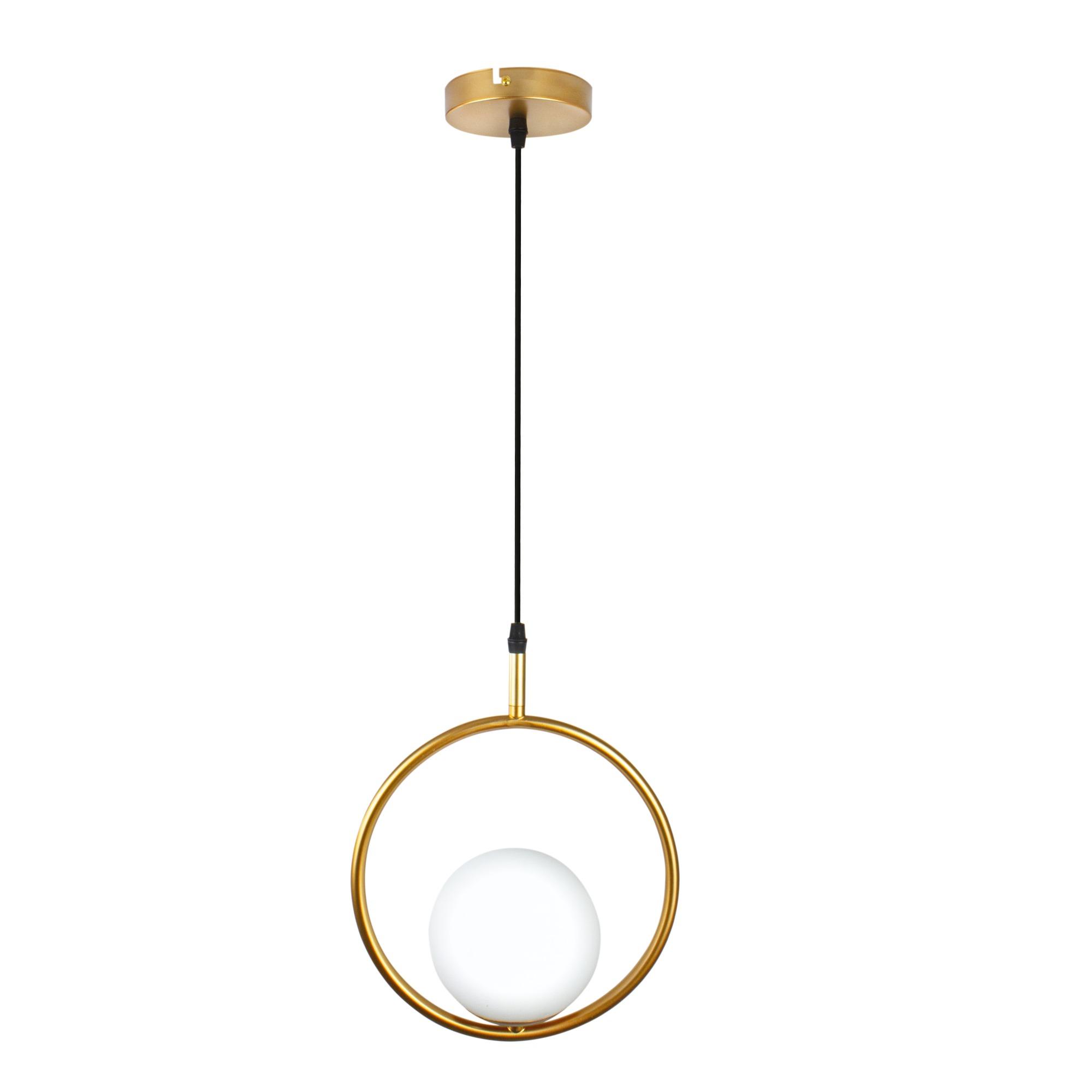 Lustre Metal Perola 30cm para 1 Lampada Dourado - Ecoline