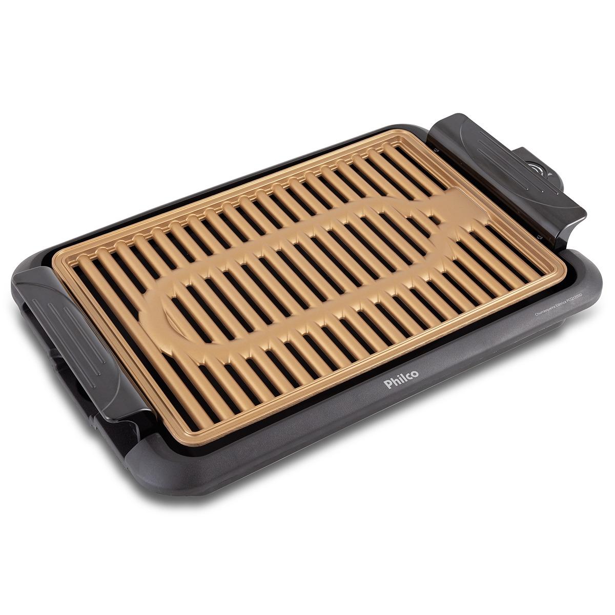 Churrasqueira Eletrica 1200W com Controle de Temperatura PCQ1200D 127V - Philco