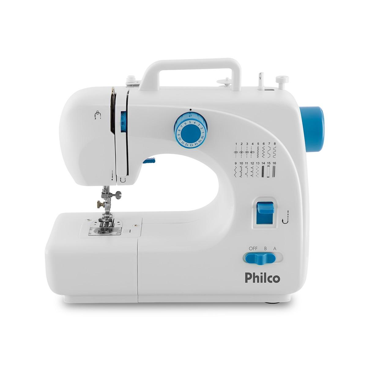 Maquina de Costura Reversa 16 Pontos Bivolt Branca - Philco