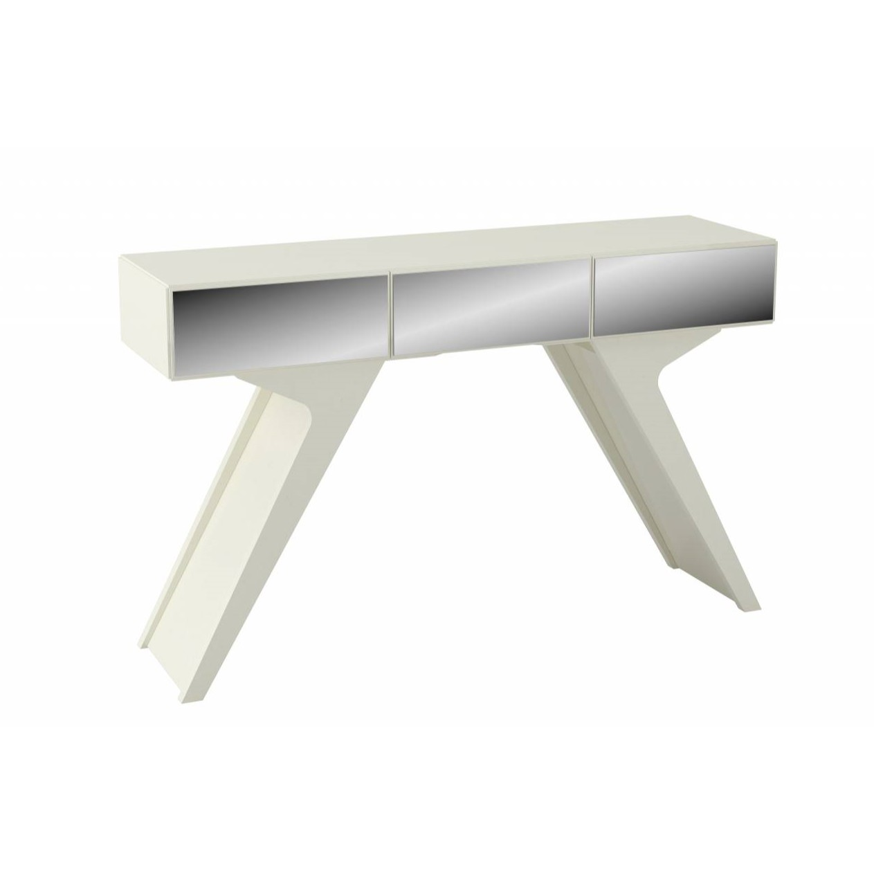 Aparador de Sala Retro Off White 124 cm MDF - Dalla Costa
