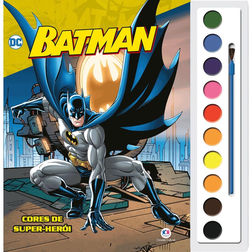 Livro Aquarela Batman Cores de Super-Heroi para Colorir - Ciranda Cultural