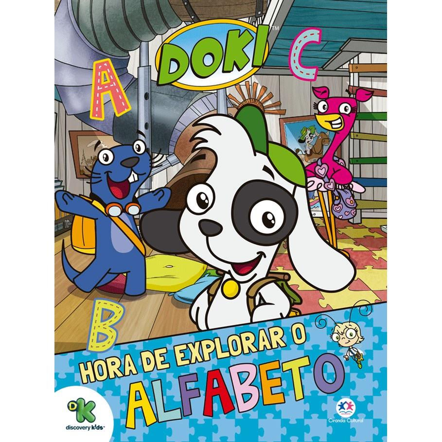 Livro Doki Hora de Explorar o Alfabeto - Ciranda Cultural