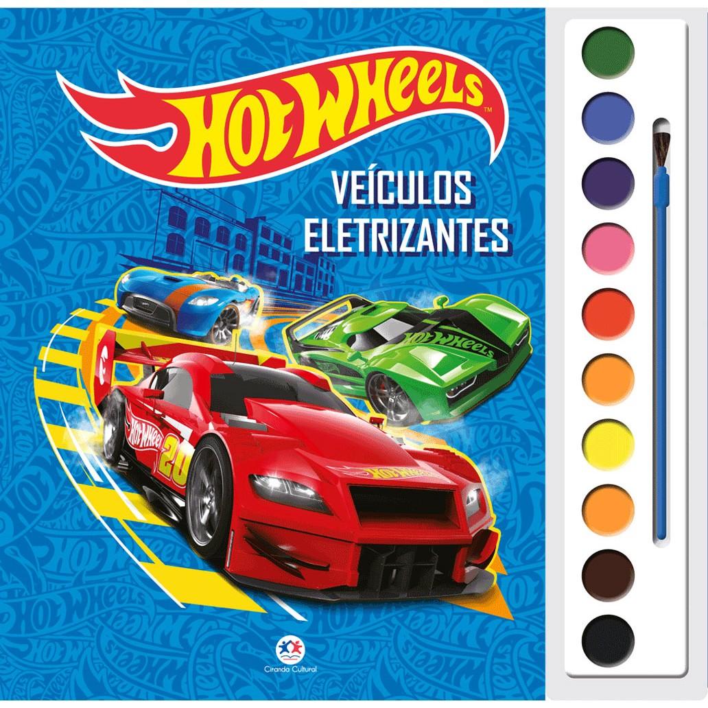 Livro Aquarela Hot Wheels Veiculos Eletrizantes para Colorir - Ciranda Cultural