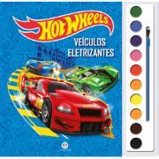Livro Aquarela Hot Wheels Veículos Eletrizantes para Colorir - Ciranda Cultural