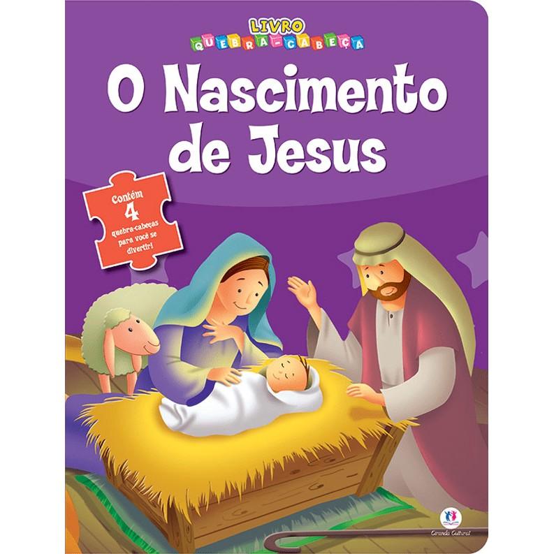 Livro O Nascimento de Jesus Com Quebra-Cabecas - Ciranda Cultural