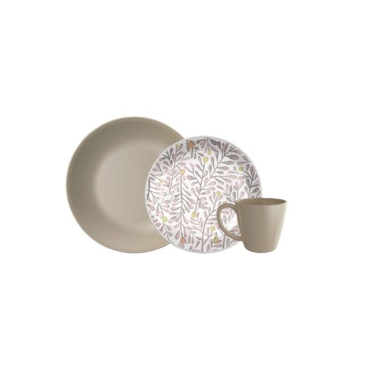 Aparelho de Jantar Garden de Ceramica 12 Pecas - Yoi