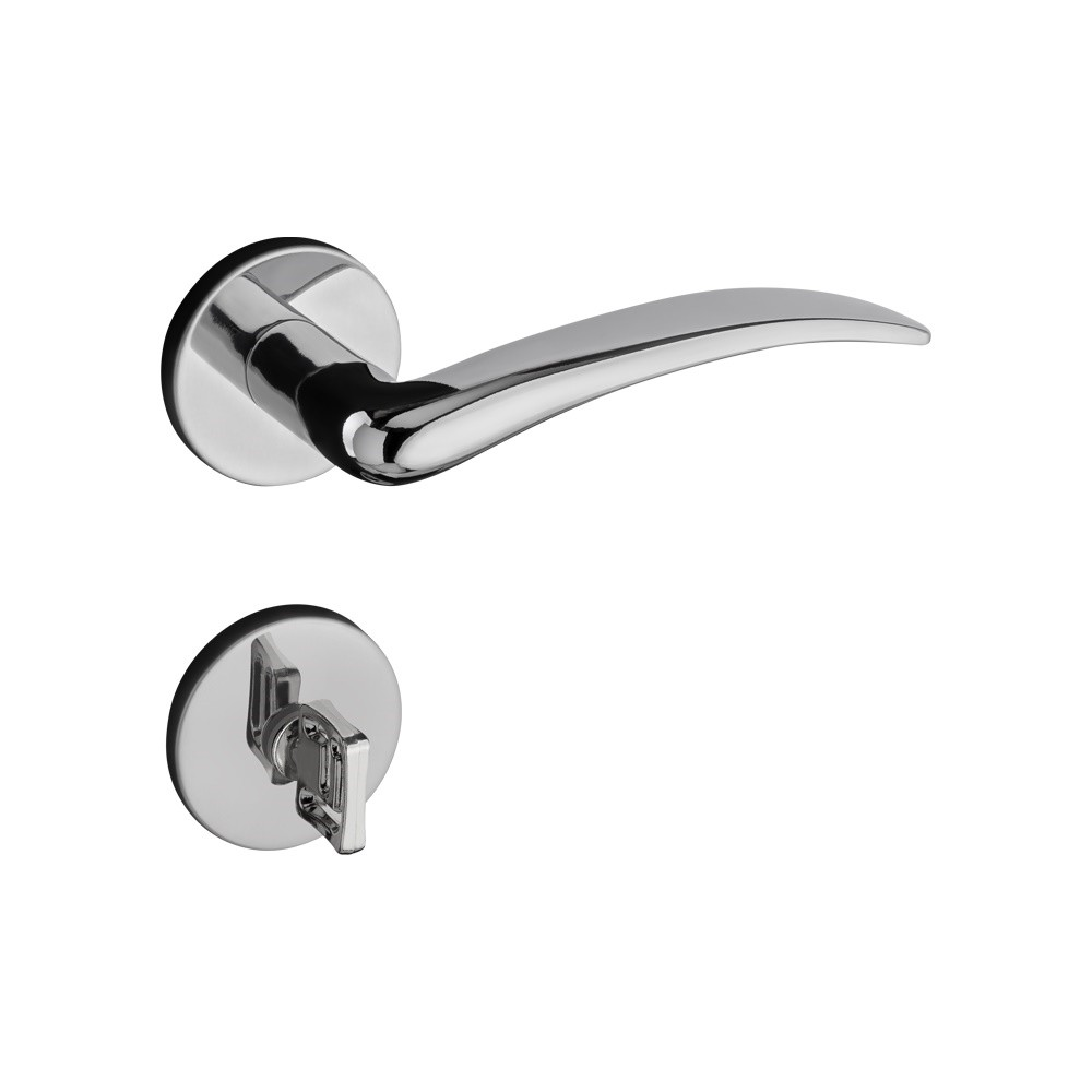 Fechadura de Banheiro Pado 40 mm Zamac Cromado Concept - 54024935