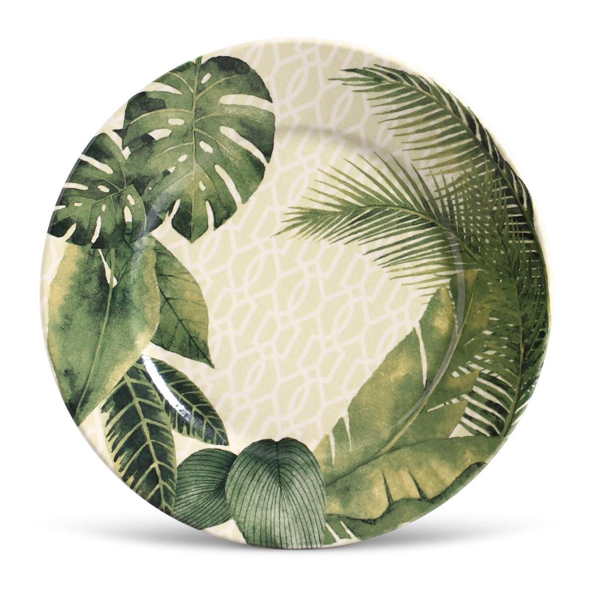 Prato Raso Travattura Redondo em Ceramica Verde - Porto Brasil
