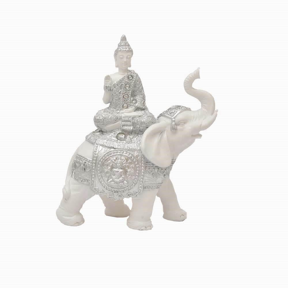 Enfeite Decorativo Elefante com Buda - Bras Continental