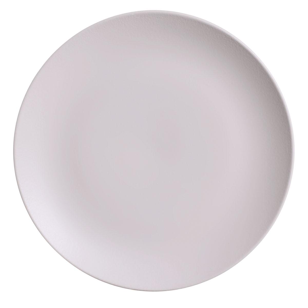 Prato Raso Haya Redondo em Ceramica Off-white - Porto Brasil