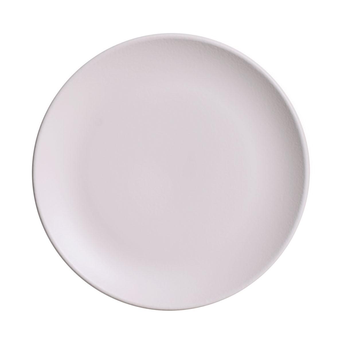 Prato de Sobremesa Haya Redondo em Ceramica Off-white - Porto Brasil