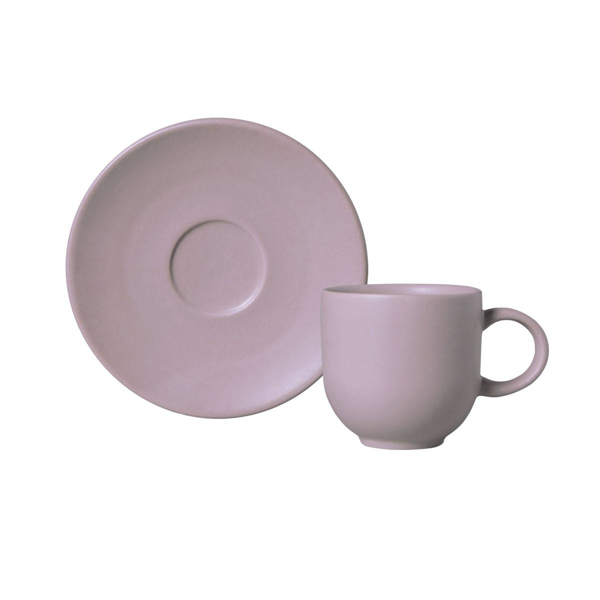 Xicara de Cafe Mahogany de Ceramica com Pires 97ml Nude - Porto Brasil