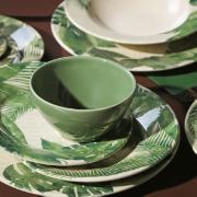 Tigela de Cerâmica Travattura 385ml Verde - Porto Brasil