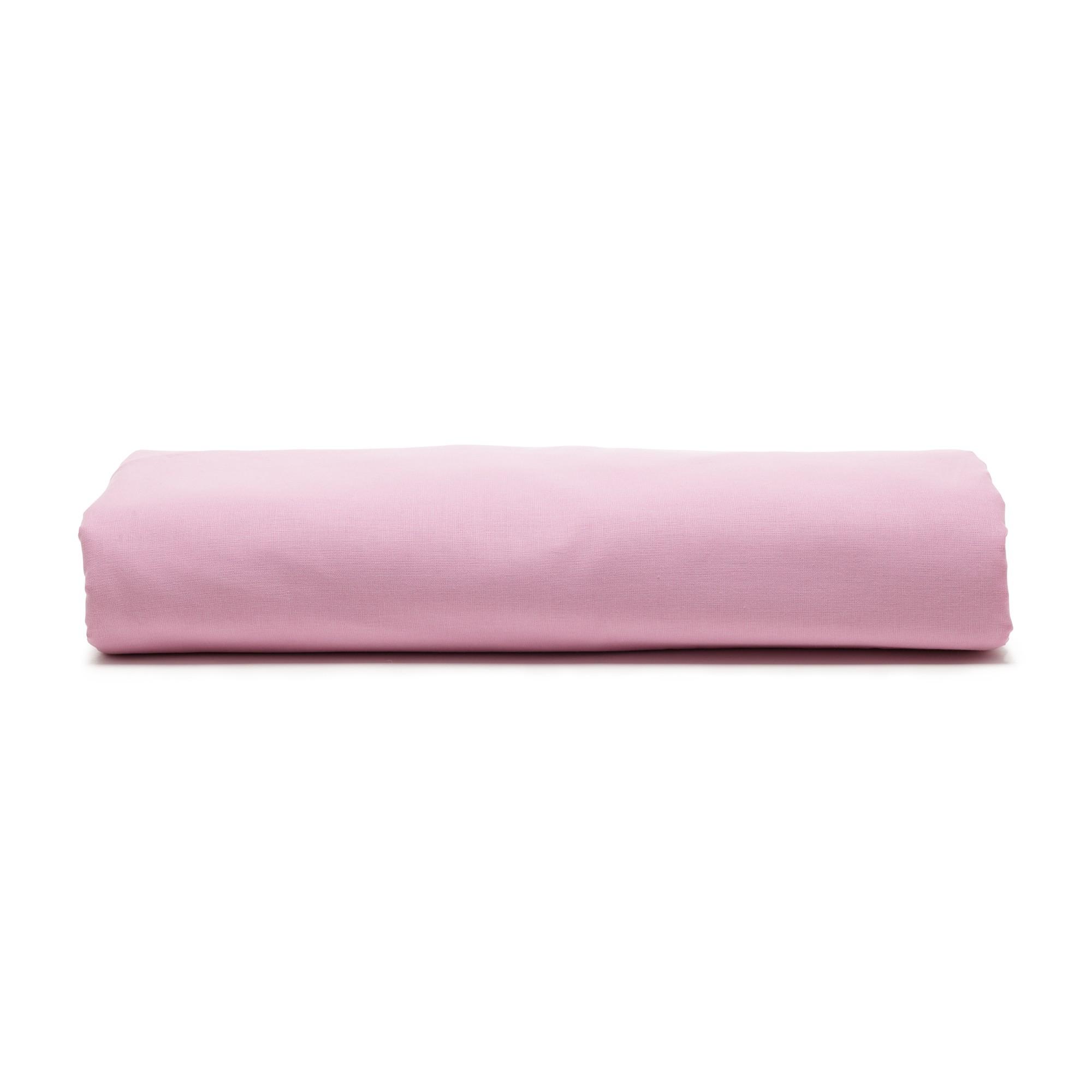 Lencol Solteiro Royal sem Elastico 100 algodao Rosa - Santista