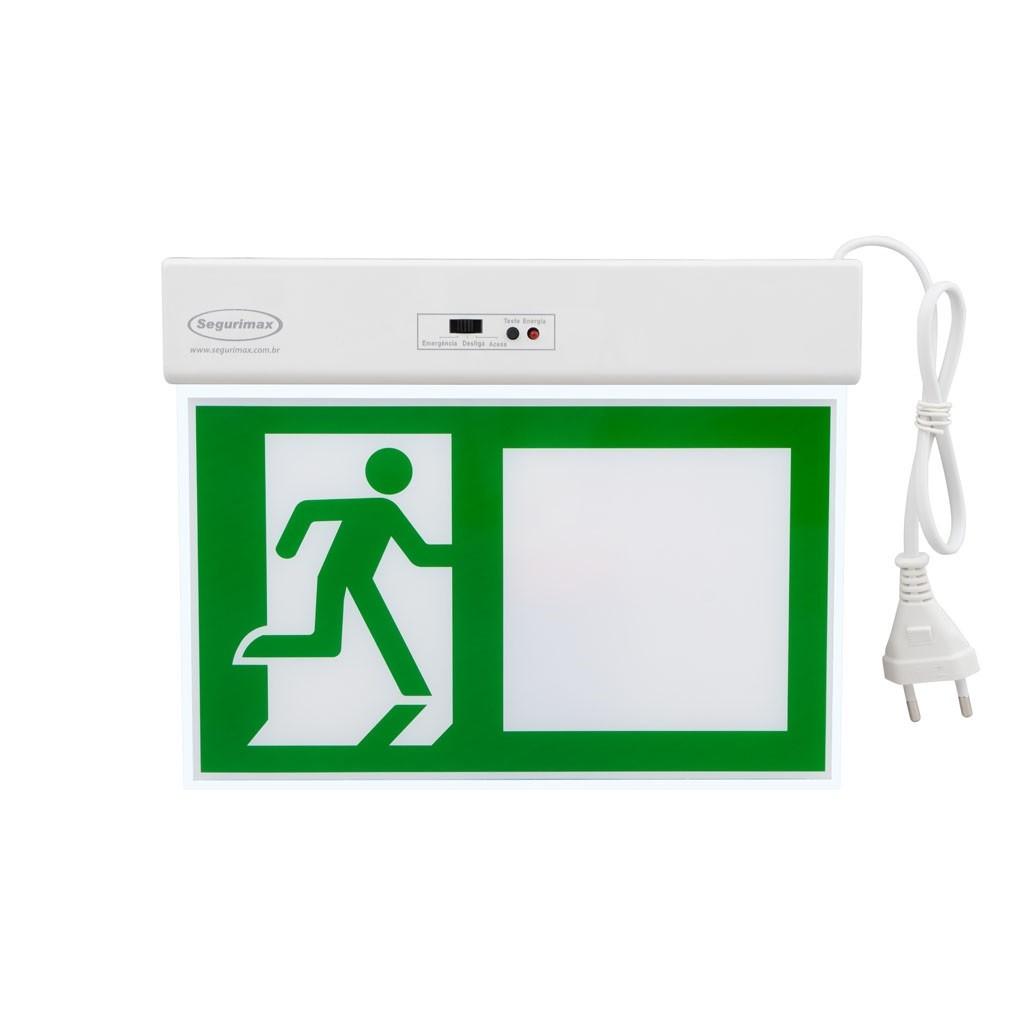 Placa de Plastico Saida de Emergencia com 4 adesivos 195cm x 27cm - Segurimax